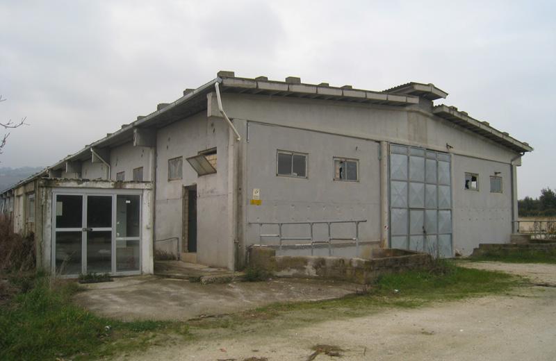 Il capannone di Villa Rosa dove sono costruiti i carri del Carnevale