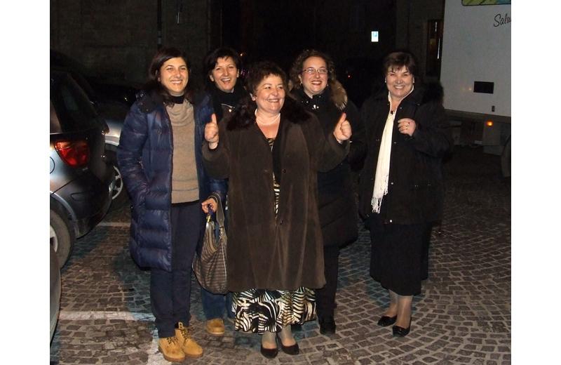 Francesca Ciarrocchi con alcune sue colleghe