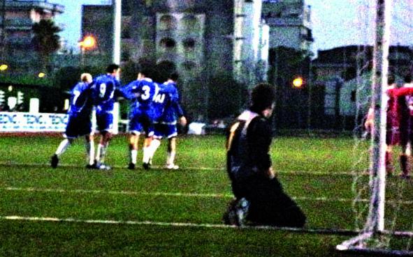 Ripatransone Utd, il gol di Cavazzini al Monterubbiano