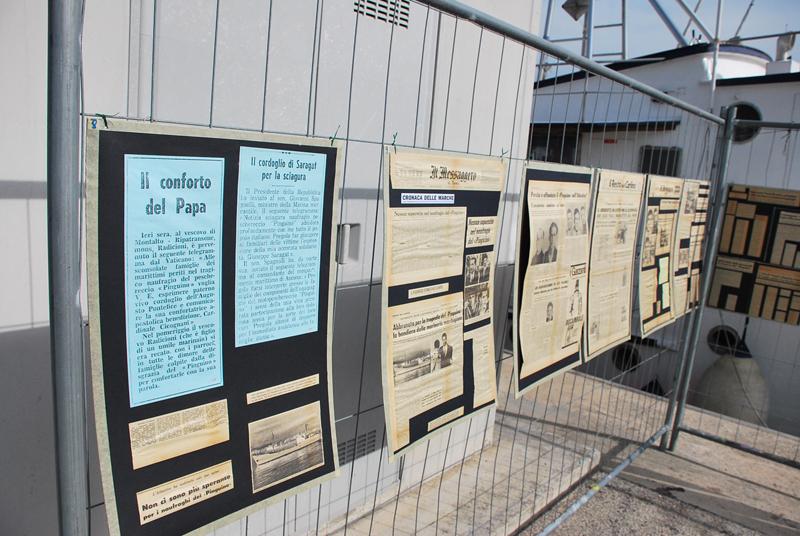 Inaugurazione piazzale commemorativo del naufragio del motopesca Pinguino: i giornali dell'epoca
