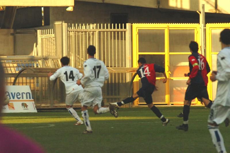 Il gol di Vojorobvs (foto Troiani)