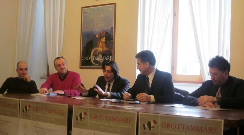 Da sinistra, Daniele Mariani,  Stefano Troli,  Enrico Piergallini, Luigi Merli, Maurizio Frascarelli