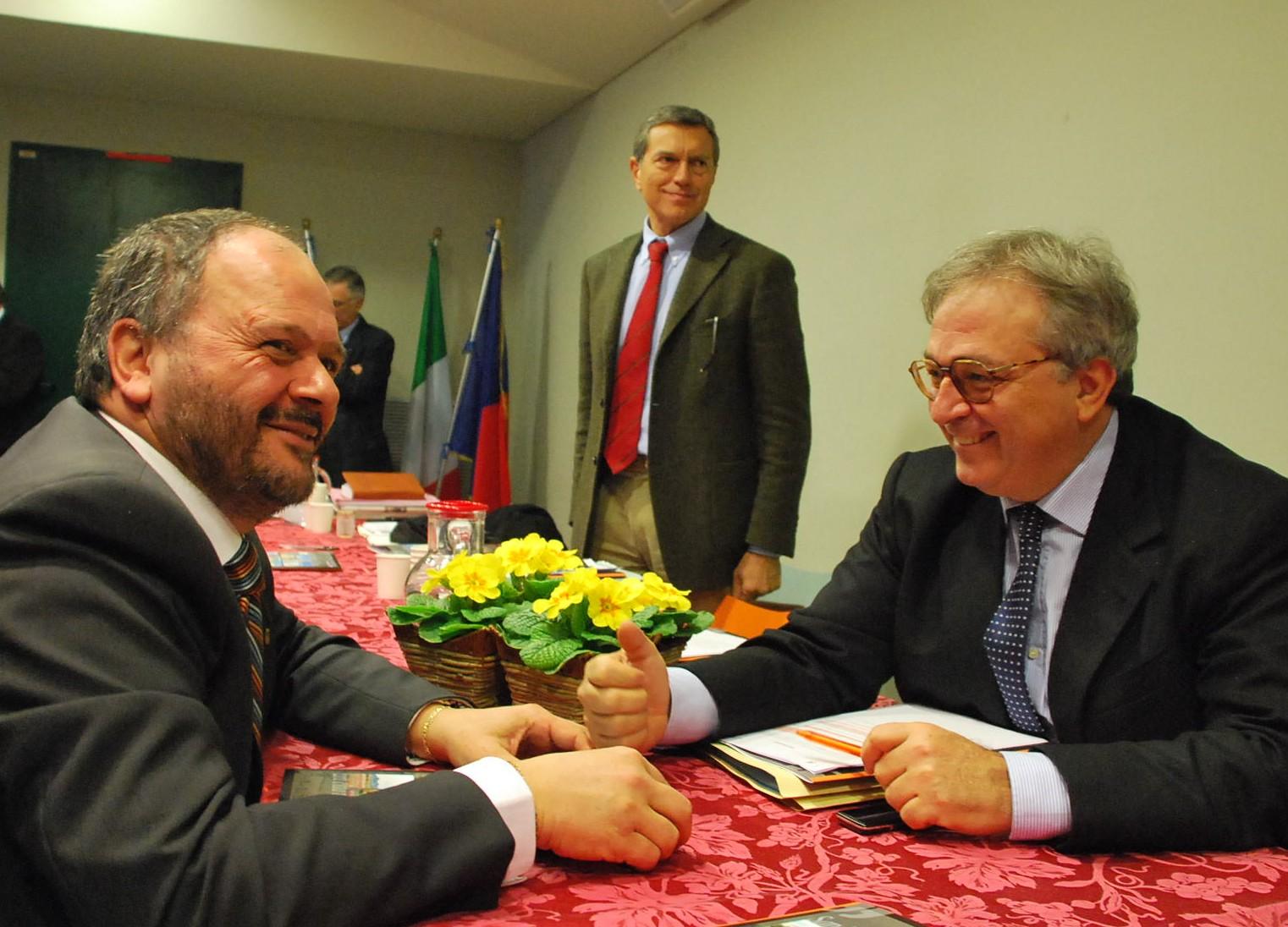 Il Governatore Spacca con il sindaco Gaspari