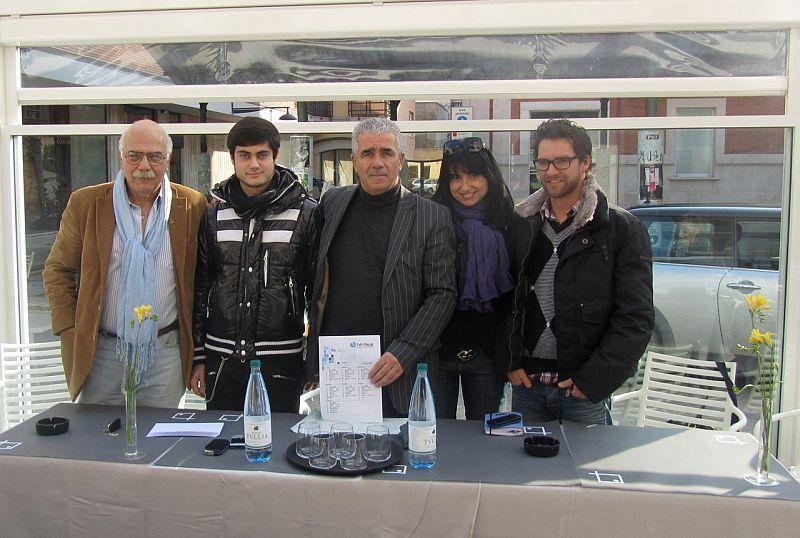 Lo staff di Tvp Italia: Pasquale Bergamaschi, Daniele Bollettini, Bachisio Ledda, Gloria Caioni, Oliver Bloch