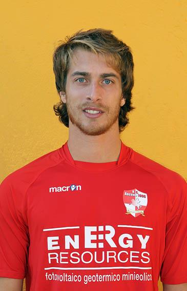 Il centrocampista dell'Ancona 1905 Giacomo Cercaci, suo il gol partita odierno.