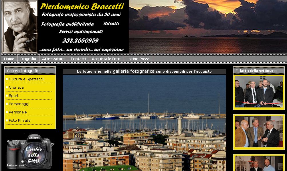 La homepage di photobraccetti.com