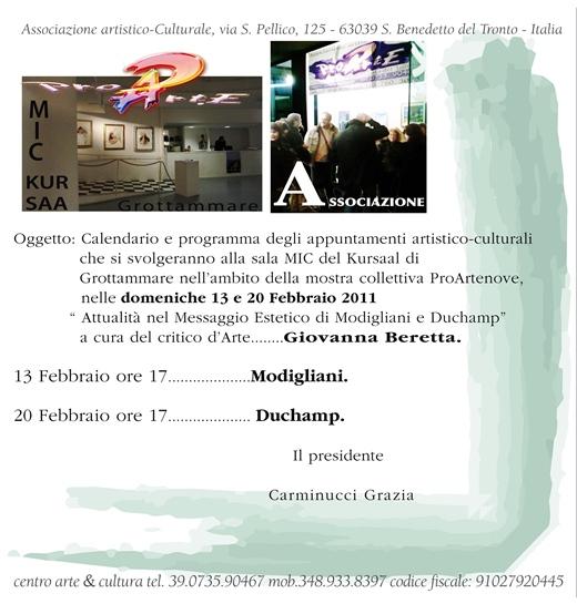 Incontri artistico culturali, sala Mic Grottammare