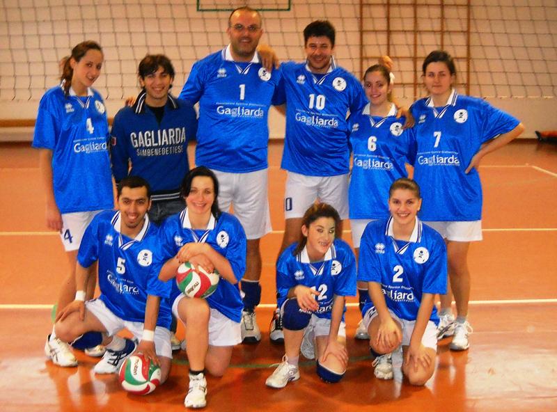 La Gagliarda 1 di pallavolo mista prima del match contro il Villa Santi Volley Team