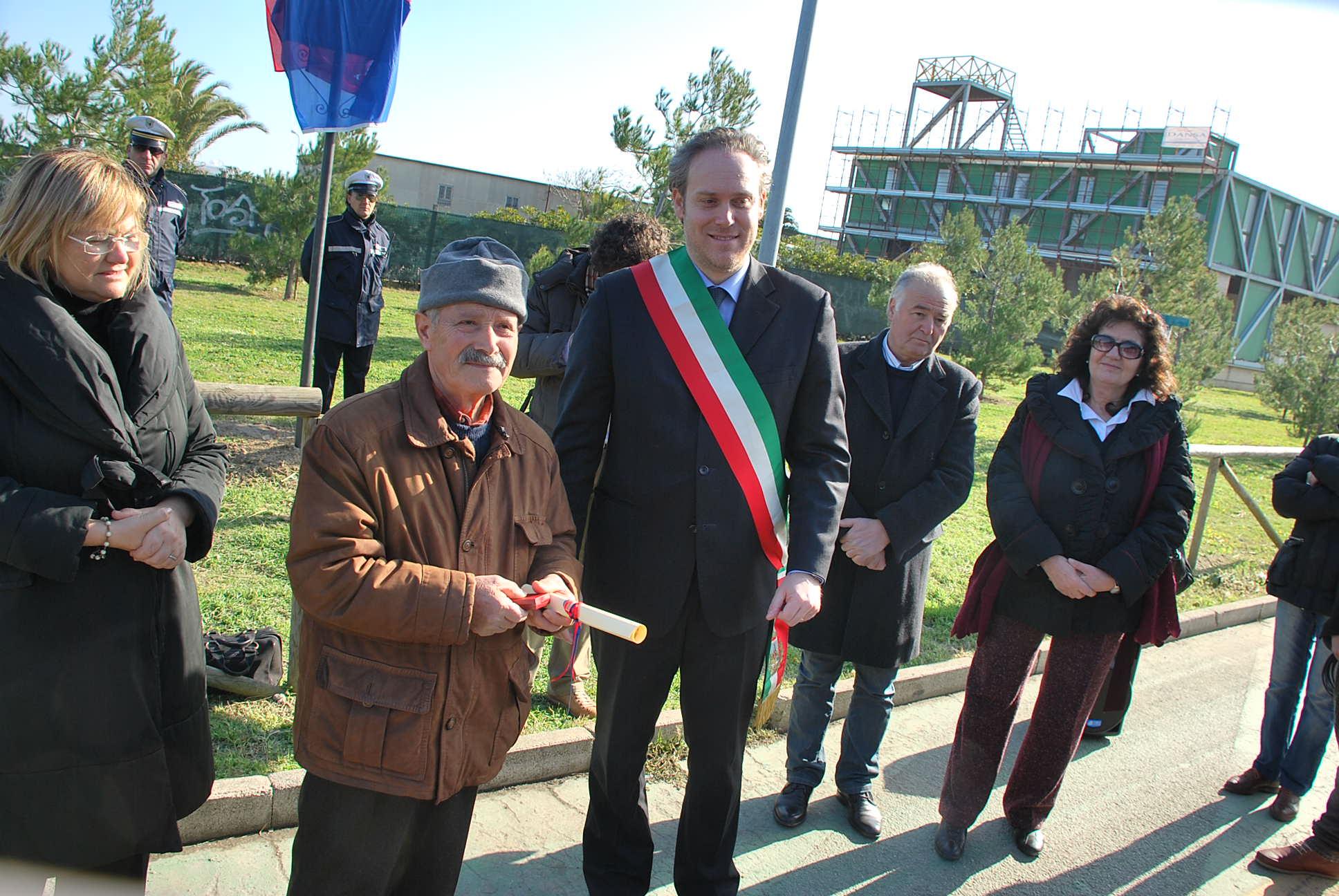 Marino Bruni premiato alla festa dei funai, 3 febbraio 2011