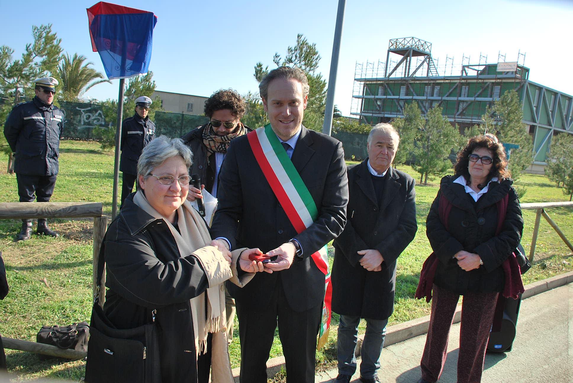 Mirella Romani premiata alla festa dei funai 3 febbraio 2011