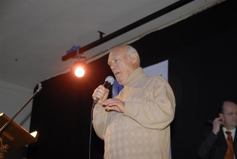 Quondamatteo durante il suo intervento che è stato molto applaudito dal numeroso pubblico presente