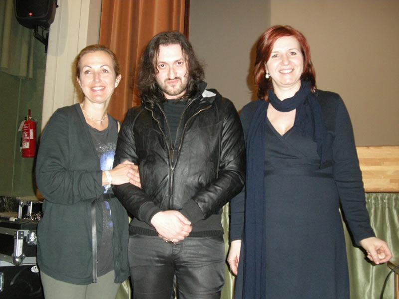 Da sinistra Antonella Roncarolo, Cosimo Damiano Damato e Caterina Di Girolami