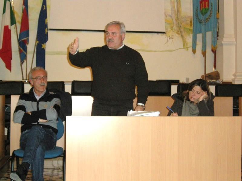 Da sinistra Alessandro Carosi, Domenico D'Annibali e Gabriella Lelli