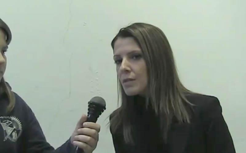 Catiuscia Settembri intervistata dagli studenti della Sacconi-Manzoni