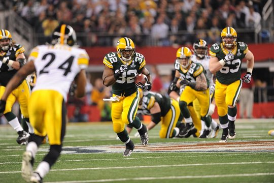 I Green Bay Packers in azione al 45° Super Bowl (foto da www.packers.com)