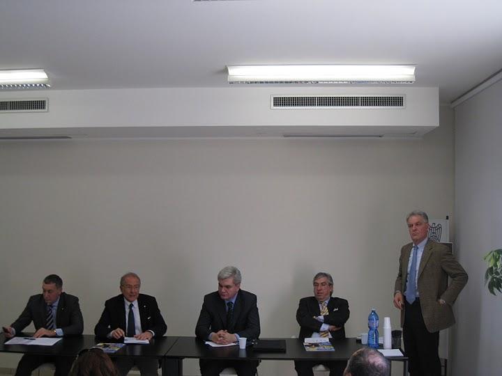 Presentazione Expo Piceno 2011: da sinistra Vadim Sabluk, Paolo Masci, Piero Celani