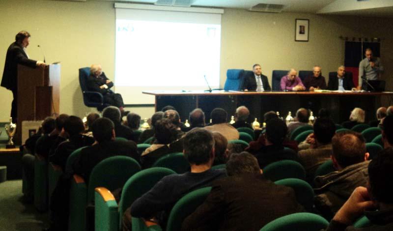 Incontro della Figc provinciale all'Auditorium di San Benedetto