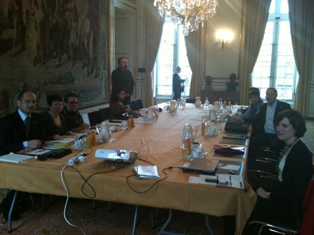 Il sindaco di Ascoli Guido Castelli in visita a Strasburgo