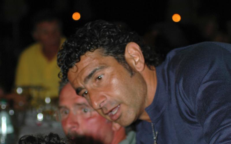 Augusto Gentilini in un raduno di ex rossoblu