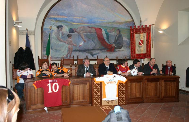 La conferenza stampa di presentazione della gita a Trigoria