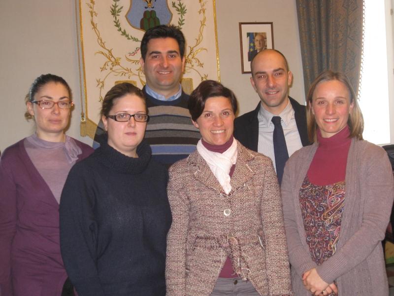 I promotori del progetto insieme al sindaco Stefano Stracci e all'assessore Daniele Mariani