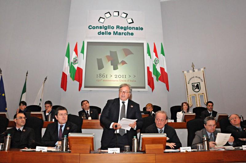 Consiglio regionale del 15 marzo, in onore del 150° dell'Unità d'Italia