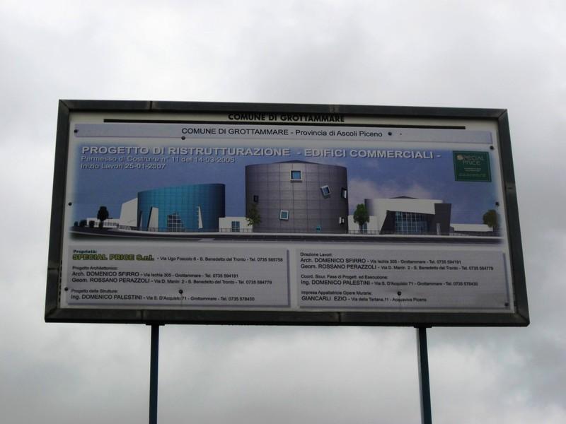 Ex Silos Ip, il cartello con il progetto di riqualificazione