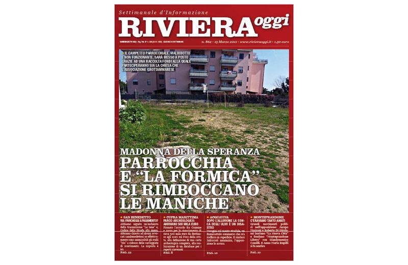 Riviera Oggi numero 862, la copertina dell'edizione di Grottammare