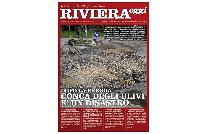 Riviera Oggi numero 862, la copertina dell'edizione di Acquaviva Picena