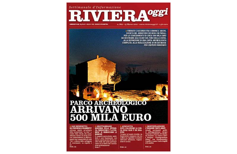 Riviera Oggi numero 862, la copertina dell'edizione di Cupra Marittima