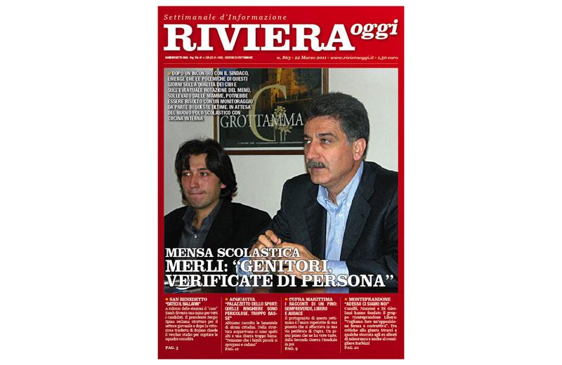 Riviera Oggi numero 863, la copertina per le edicole di Grottammare