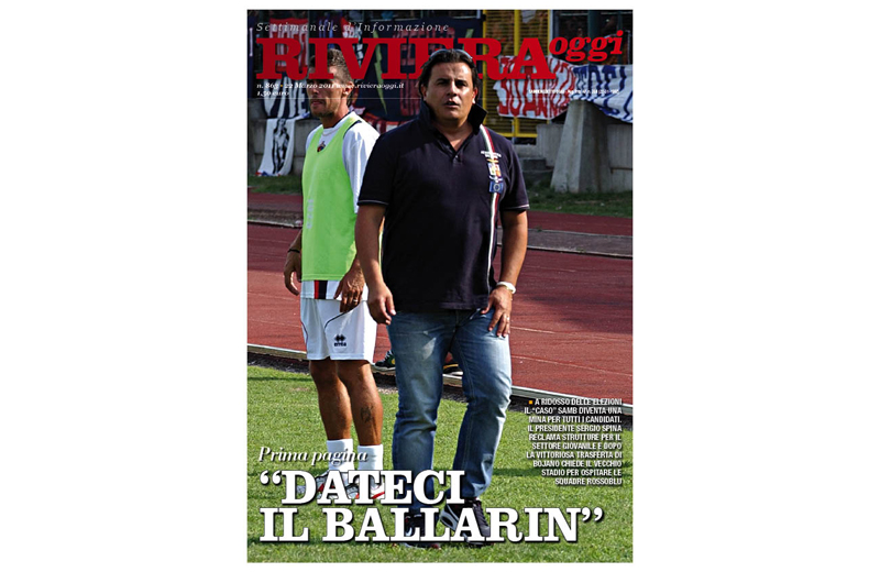 Riviera Oggi numero 863, la copertina per le edicole di San Benedetto