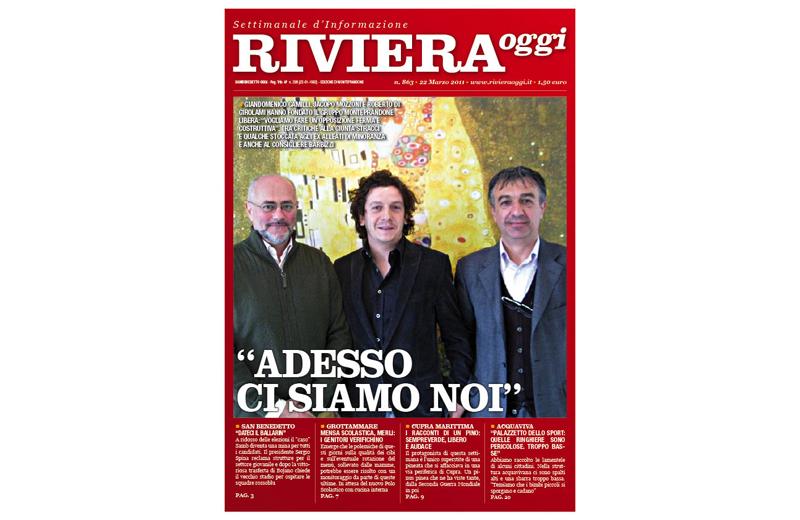 Riviera Oggi numero 863, la copertina per le edicole di Monteprandone
