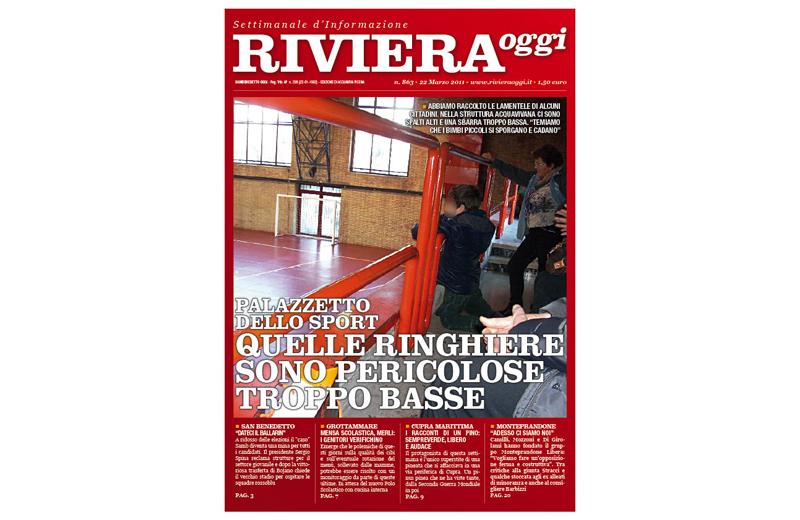 Riviera Oggi numero 863, la copertina per le edicole di Acquaviva Picena