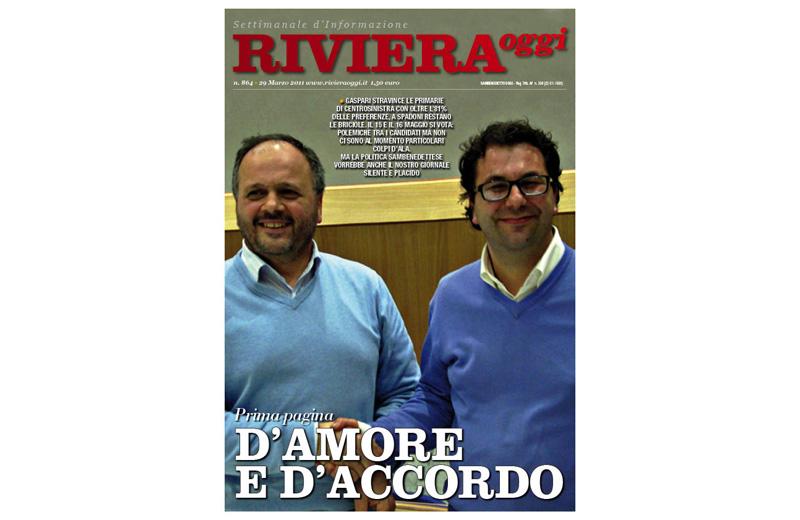 La copertina di Riviera Oggi numero 864 in edicola dal 28 marzo