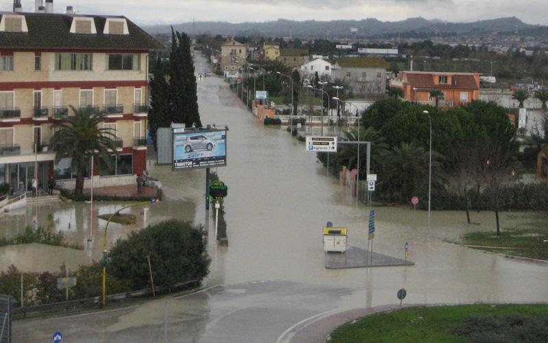 Zona via Pasubio allagata, 2 marzo 2011