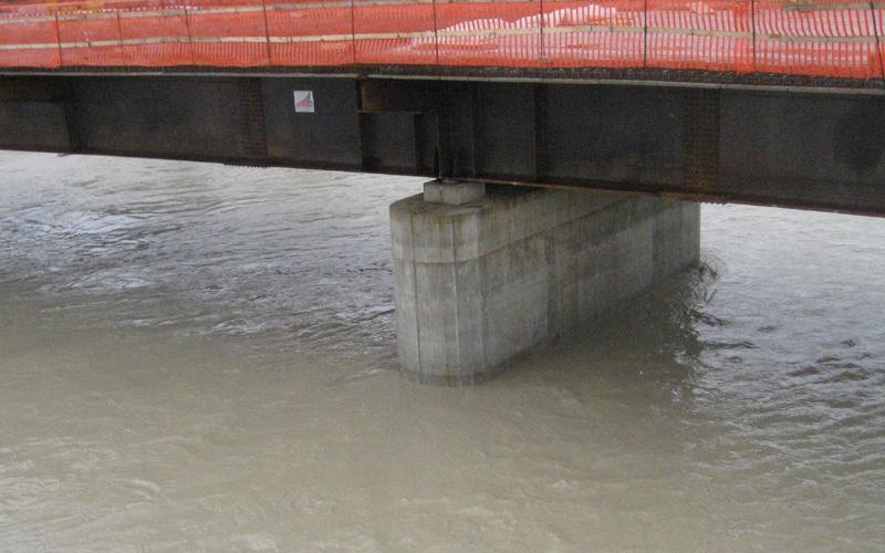 Fiume Tronto, il livello alle 9 del 2 marzo 2011