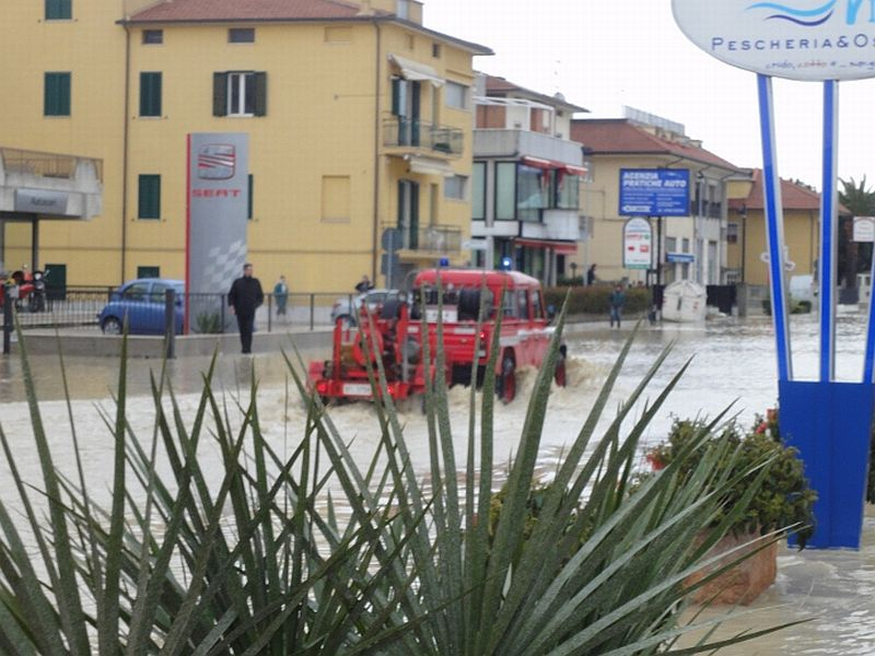 Statale Adriatica, mercoledì 2 marzo, mattina (foto Daniele Traini)