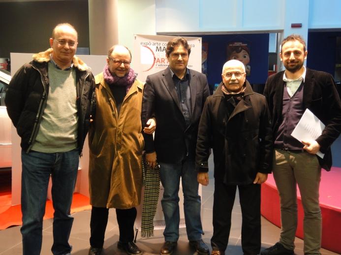 Da sinistra, Piergaetano Calabresi, Franco Marconi, Marco Sciarra, Lino Rosetti e Luigi Maria Perotti