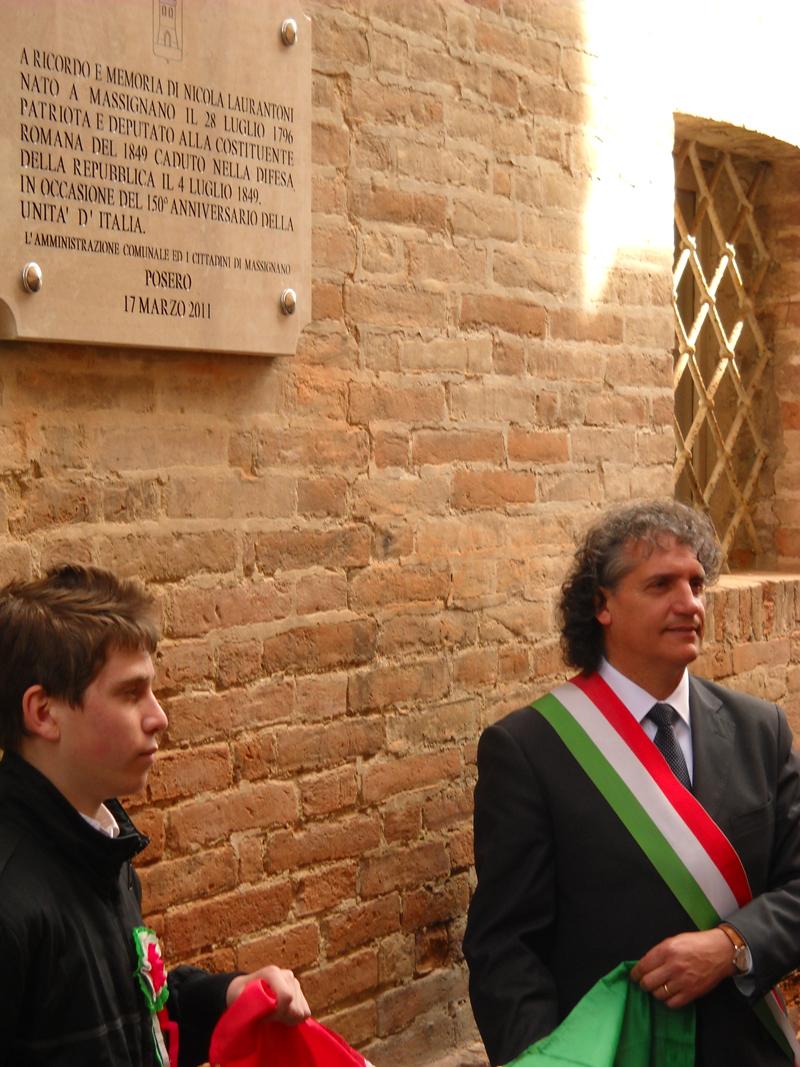 Massignano in festa per il 150° dell'Unità d'Italia: il sindaco Mecozzi