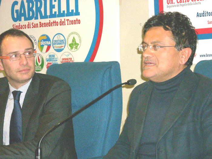 Marcello Veneziani. Al suo fianco Gabrielli