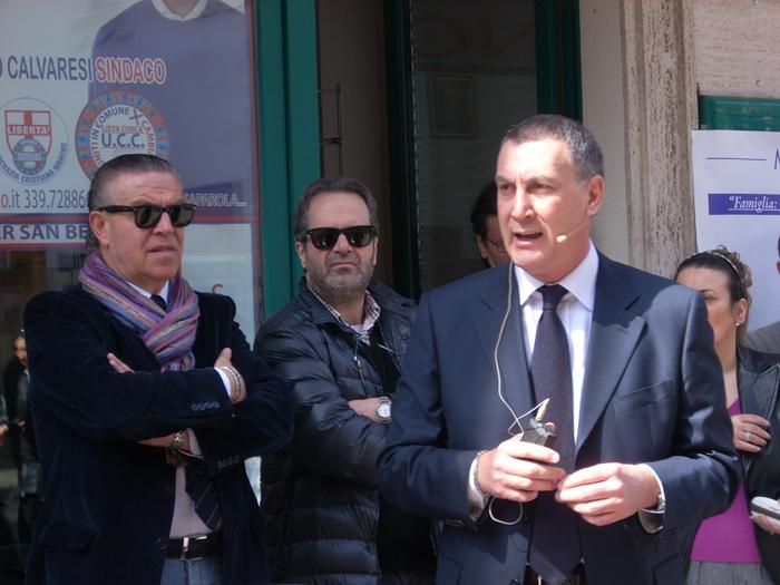 Marco Calvaresi con Domenico Martinelli e Carlo di Giovanni