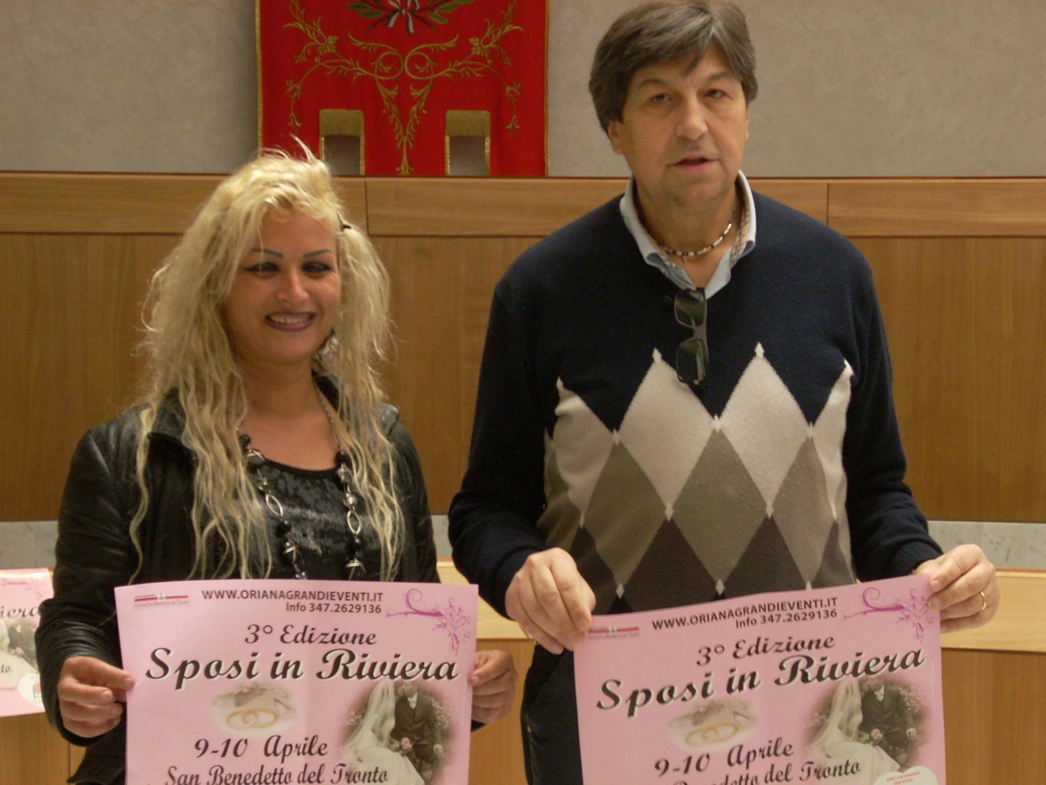 Sposi in Riviera, Oriana Simonetti con Domenico Mozzoni