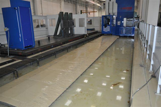 Technomec: secondo l'azienda, questa è una macchina utensile del valore di circa 1 milione di euro completamente inondata