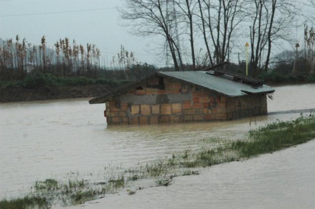 L'alluvione del 2 marzo nelle campagne cuprensi (foto Troiani)
