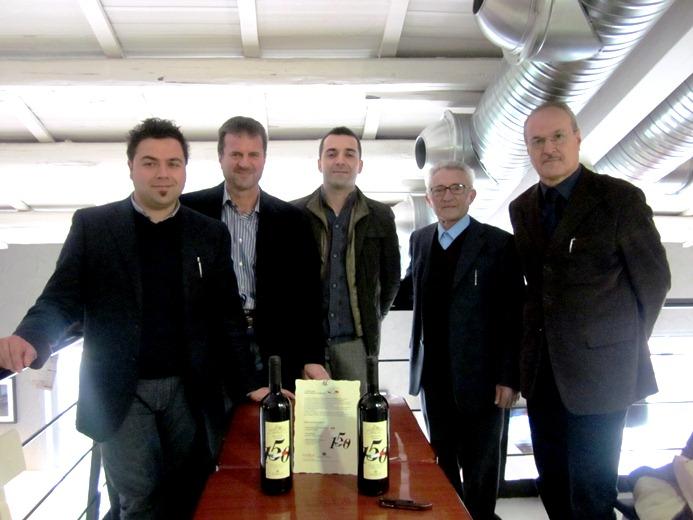Da sinistra, Marco Pignotti, Nazario Pignotti, Giovanni Piunti, Emilio Malavolta, Remo Bruni