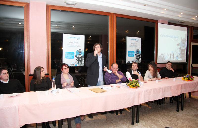 La serata di presentazione del Comitato Colonnella 2020
