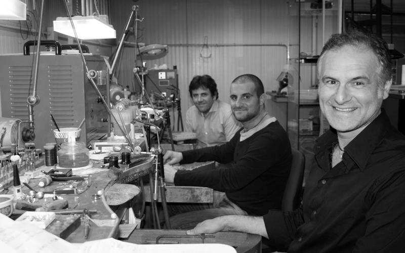 Kimberley Preziosi: Leonardo, Maurizio ed Emidio nel laboratorio (foto f.g.)