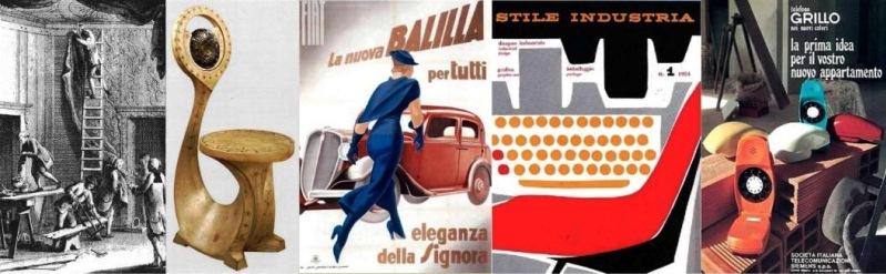 Locandina di un ciclo di incontri sulla Storia del design Italiano