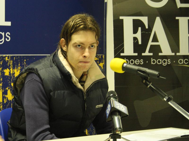 Michele Antonutti in sala stampa